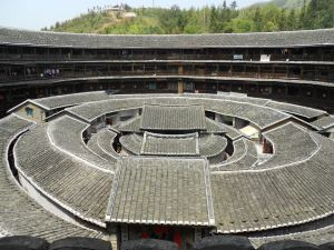 The view from the upper levels of the Chengqi Building