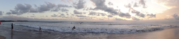 The Kuta sunset looked like this daily (Indonesia, 2016).