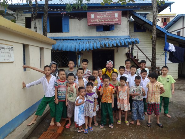 Me and some of the kids from Sunrise Home Youth Development Center (Yangon, 2016).