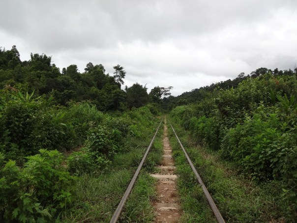 Trail on the train tracks (Myanmar, 2016).