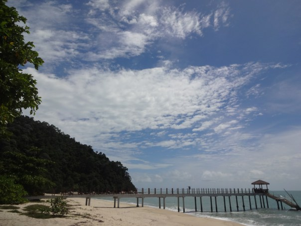 The beach in Penang National Park (Malaysia, 2016).