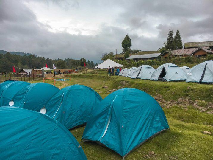 What's camping like at Ziro music festival?