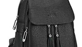 ed917badc Backpack for Women Fashion, Black Pu Leather, Causal Purse Guess for School  Teen Girls