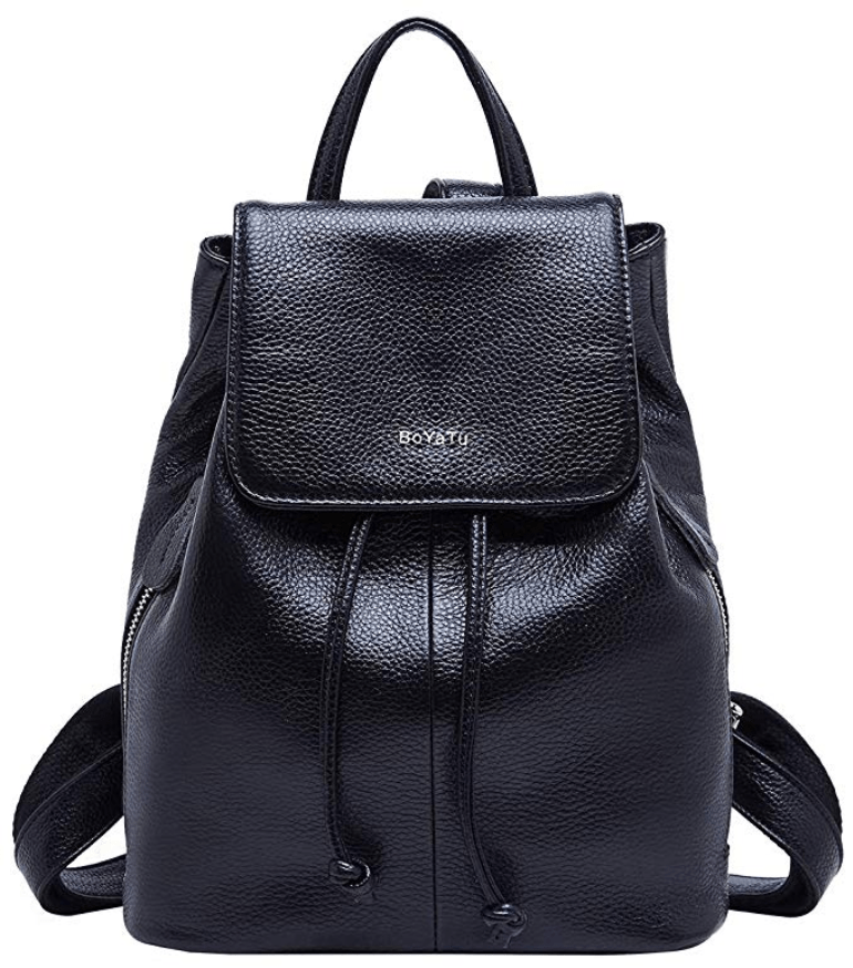 New Women /& Ladies Grain Faux Leather Small Soft Backpack Rucksack Shoulder bag