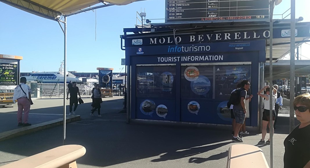 The Ticket Office at Molo Beverello Port in Naples