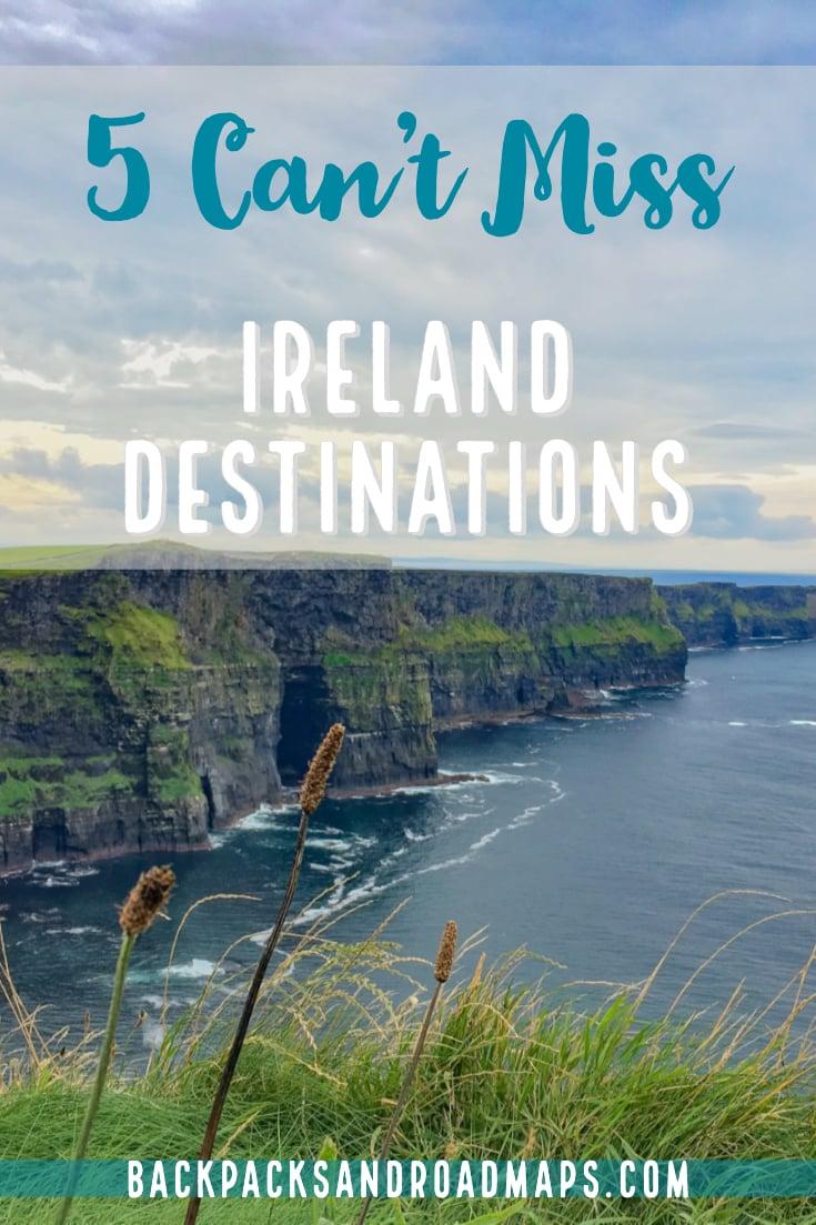 Top 5 Places to Go When Visiting Southern Ireland. #traveltips #irelandtravel #irelanddestinations