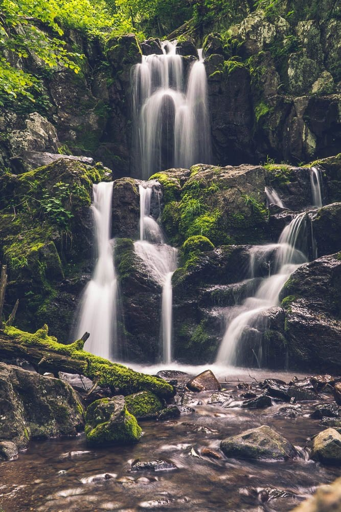 usa travel tips: a waterfall in Shenandoah National Park