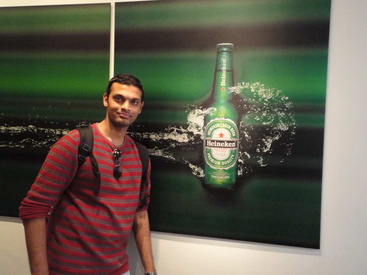 At The Heineken Brewery Amsterdam