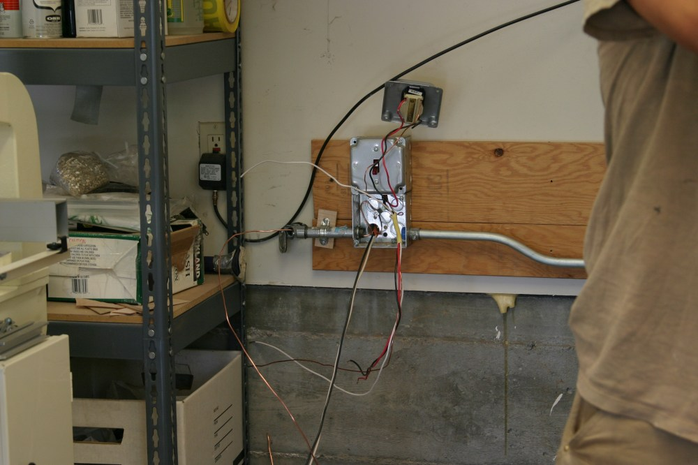 medium resolution of final ac wiring from the outside ac disconnect and breaker box