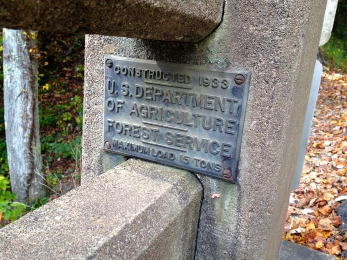 Bald River Falls Bridge Plaque