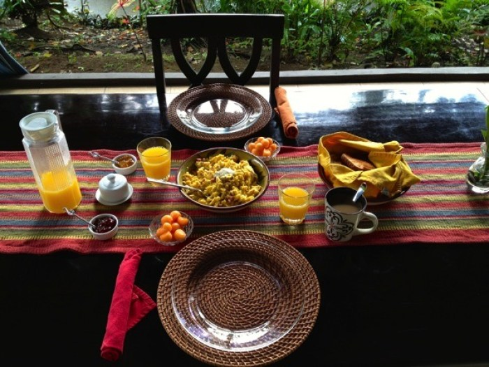 Egg Scramble Breakfast at Villa Hermosa La Fortuna Costa Rica - Villa Hermosa: Your Home Away from Home in Costa Rica