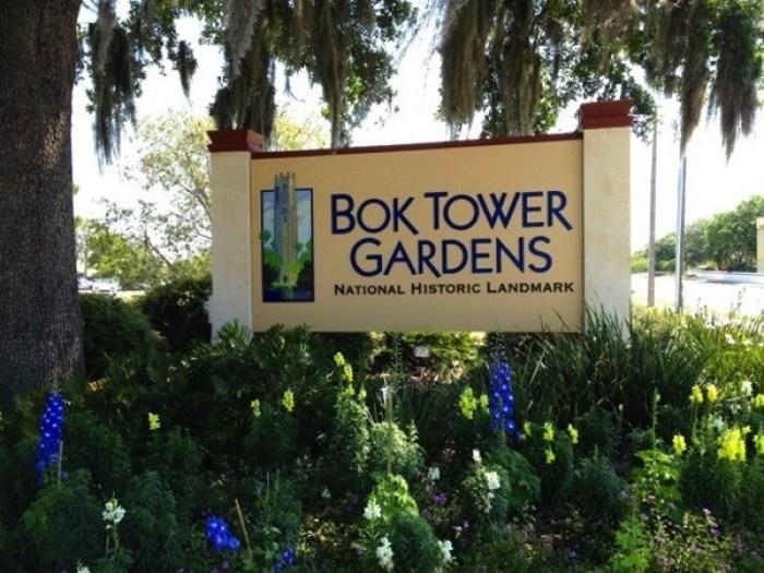 Bok Tower Gardens Sign - Bok Tower Gardens: America's Taj Mahal