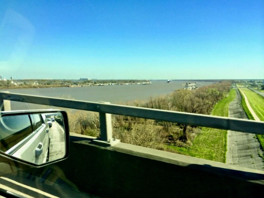 Sunshine Bridge Top - Louisiana's River Road Plantations