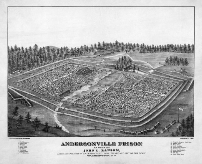 1024px Andersonville Prison e1404761269362 - Andersonville: The Civil War in Georgia