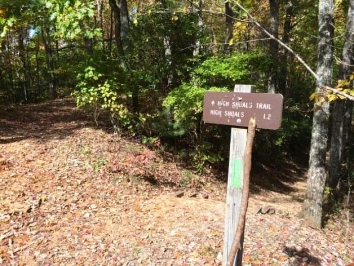 Signpost High Shoals Falls
