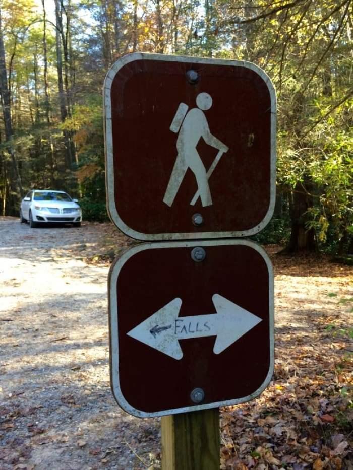 Sign Near Long Creek Falls