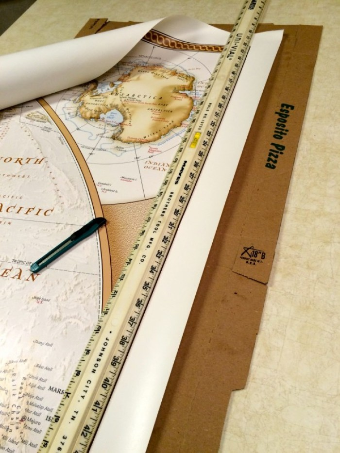 IMG 4649 - How to Hang a National Geographic World Map Mural