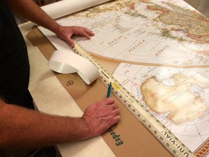IMG 4650 - How to Hang a National Geographic World Map Mural