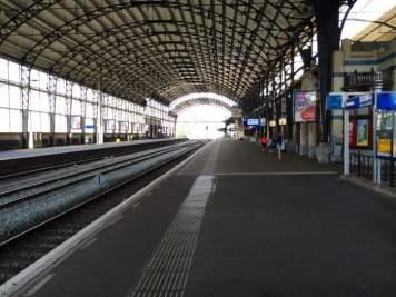 Outside Inside Haarlem, Netherlands train station.