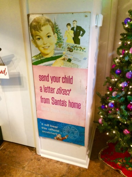 Vintage Sign Santa Claus Museum