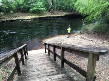 Boy Fishing Steinhatchee Falls Florida