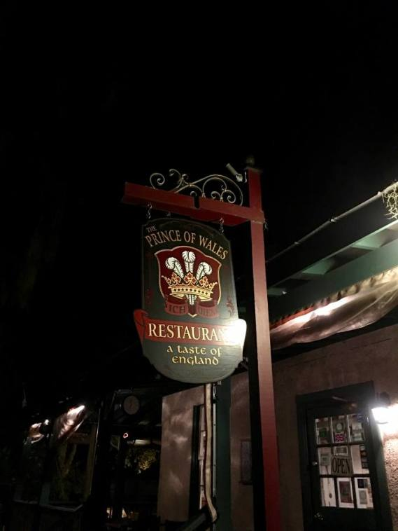 Prince of Wales Restaurant St Augustine Florida
