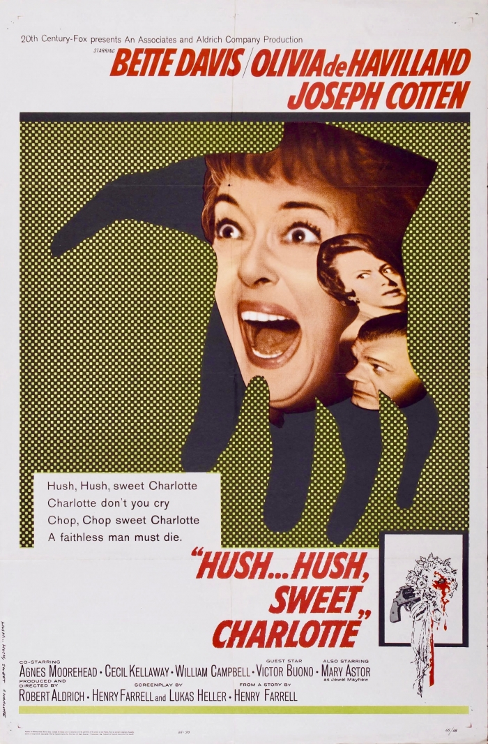 hush hush sweet charlotte poster - Confessions of a Traveling Cinephile