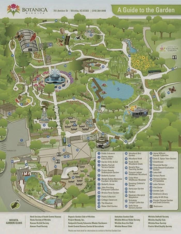 Botanica Map - What to Do in Wichita, Kansas