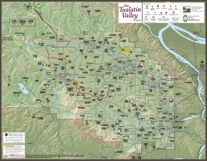 Tualatin Valley Tear Sheet Map 17x13.25 2017 REV No WSHotel 2 - Vineyards & Valleys: An Oregon Scenic Drive