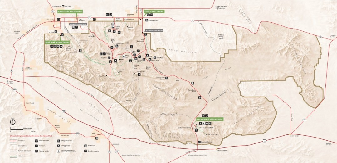 joshua tree simple map - Best Hikes in Joshua Tree National Park on a One-Day Trip