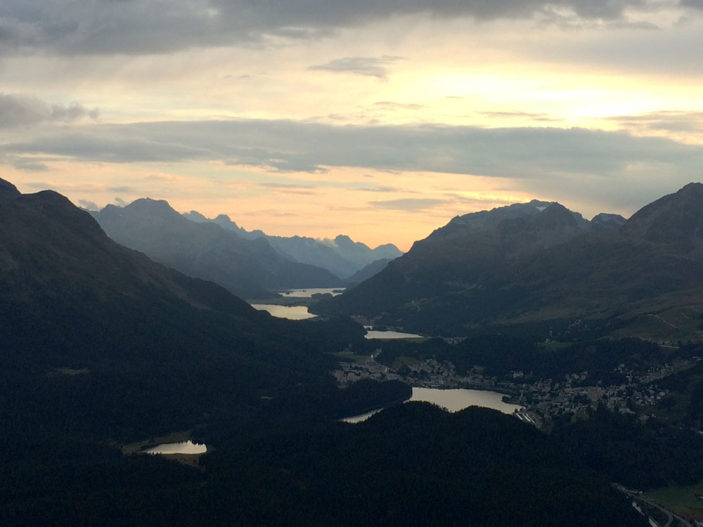 sunset st moritz valley - Discover Switzerland's Engadine Valley: The Hidden Side