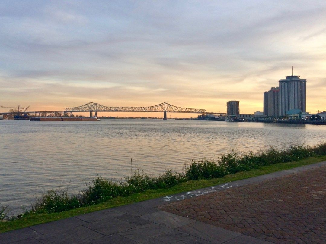Mississippi River from Crescent Park in the Marigny - Uncover the Secrets of New Orleans Neighborhoods