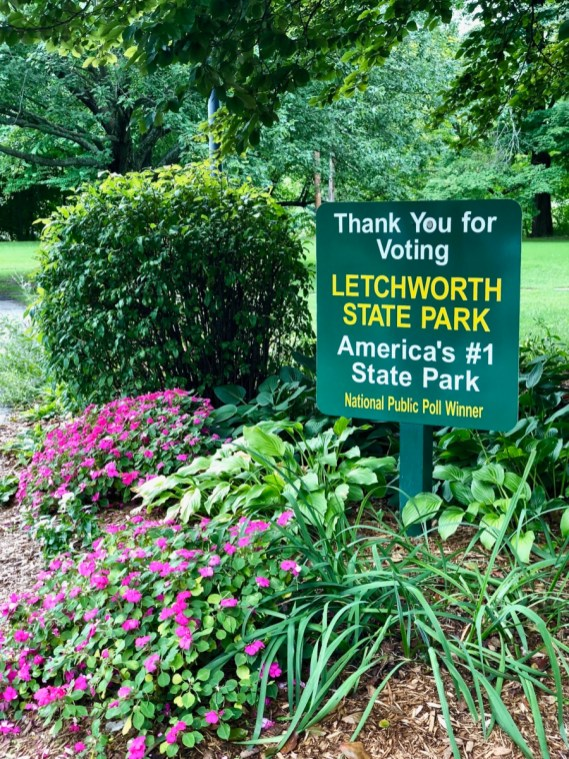 sign Letchworth America's #1 State Park