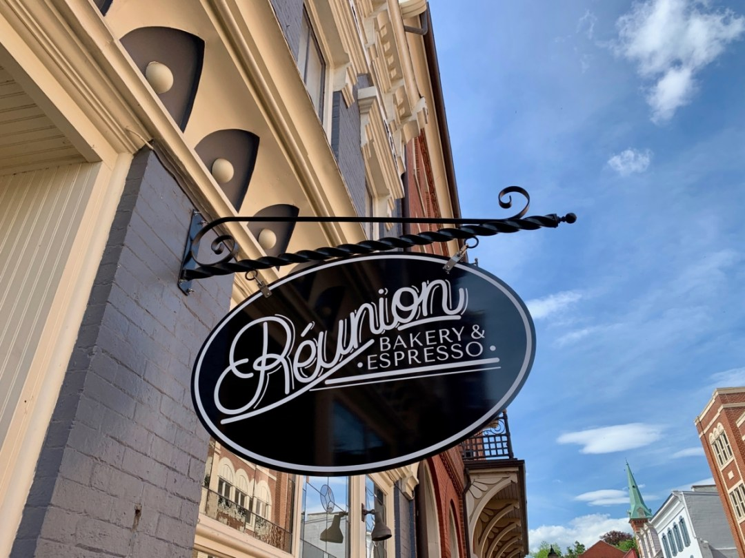Reunion Bakery Staunton Sign - Fun Things to Do in Staunton Virginia