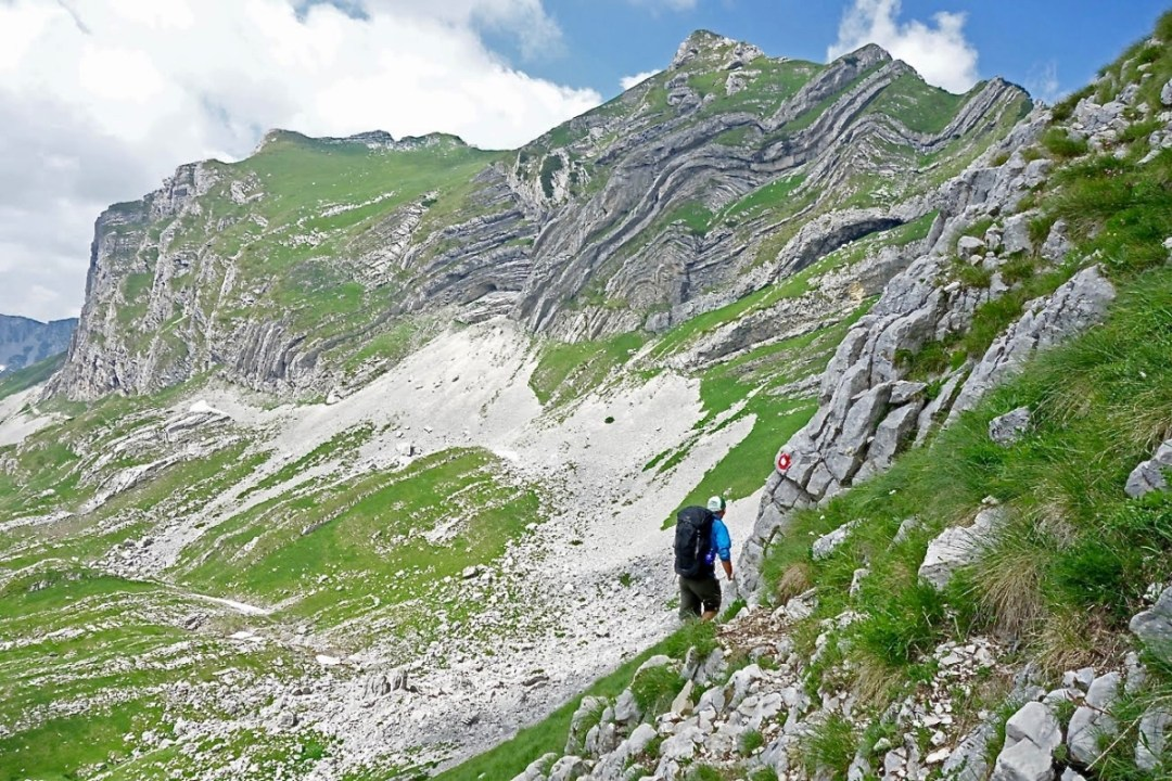 Rock folds and hiker - Roadtripping, Hiking & Camping Montenegro Best Places