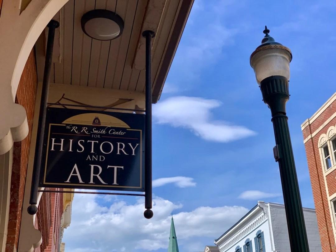 Staunton History Art Center Sign - Fun Things to Do in Staunton Virginia