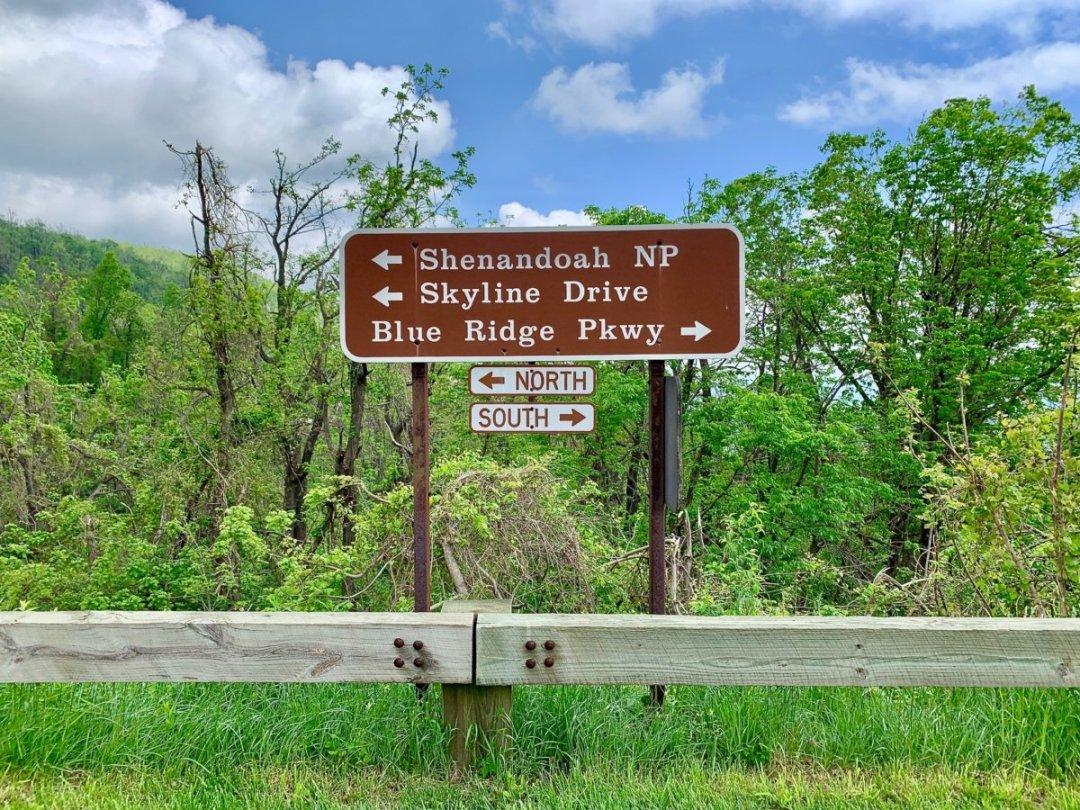 Skyline Drive Parkway Sign - Visit Waynesboro Virginia: Gateway to the Shenandoah Valley