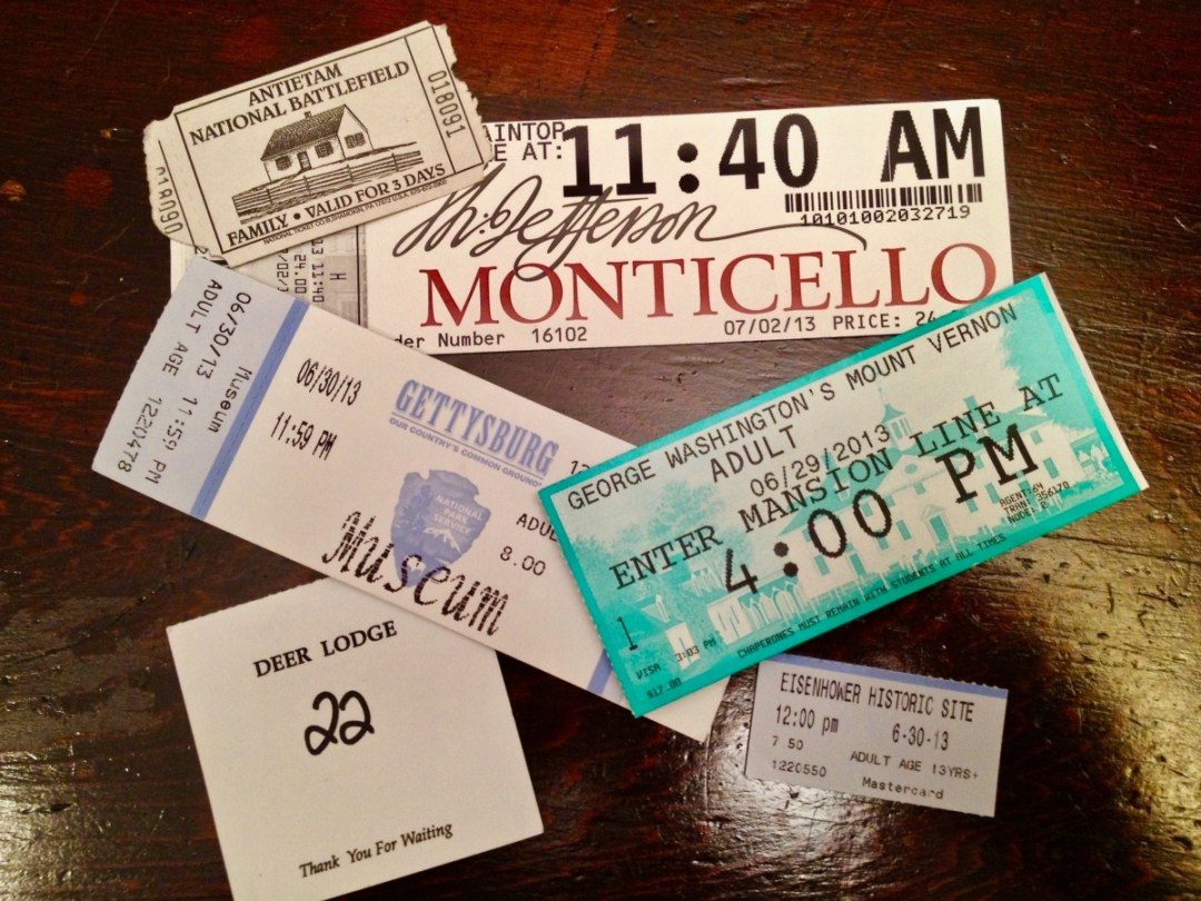 Ticket stubs - Visit Waynesboro Virginia: Gateway to the Shenandoah Valley