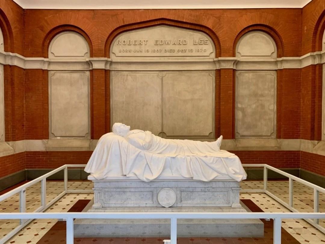 Robert E Lee Recumbent Statue - Scenic & Historic Things to Do in Lexington, Virginia