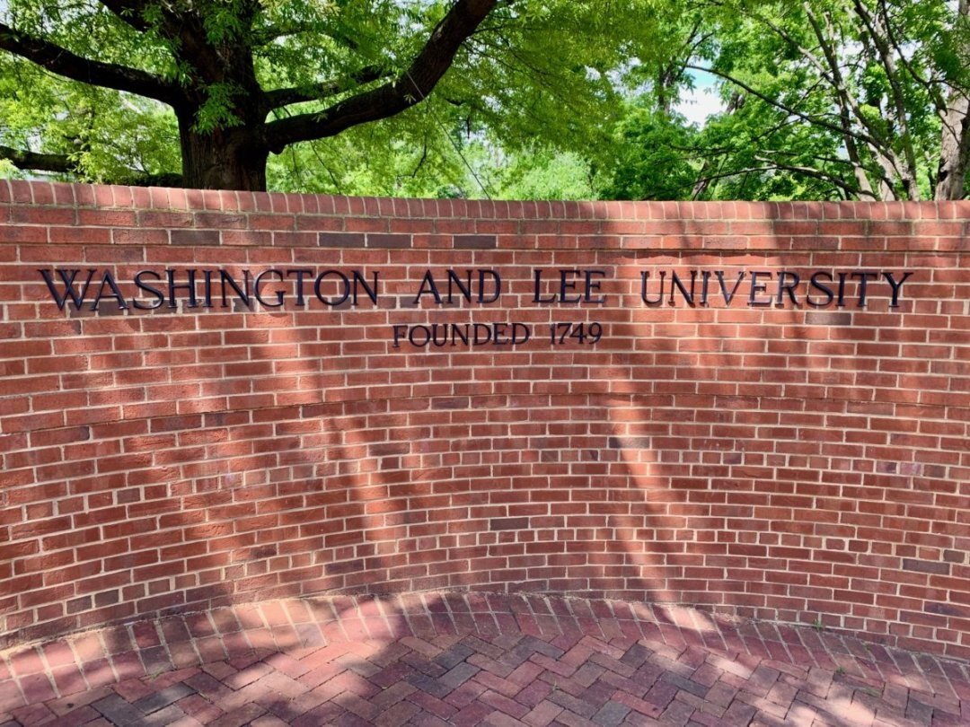 Washington and Lee University Sign - Scenic & Historic Things to Do in Lexington, Virginia