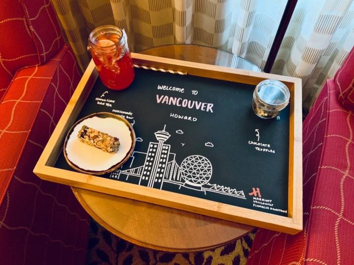 Vancouver Marriott Welcome Snacks