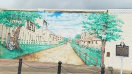 Mural of Maycomb in Monroeville