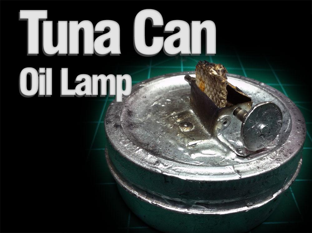Backroom Workdesk 187 Tuna Can Oil Lamp