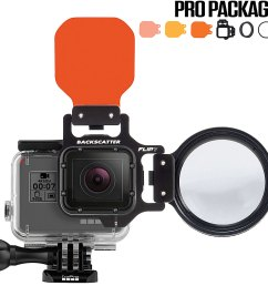 flip7 pro package with shallow dive deep filters 15 macromate mini lens for gopro 3  [ 1000 x 1000 Pixel ]
