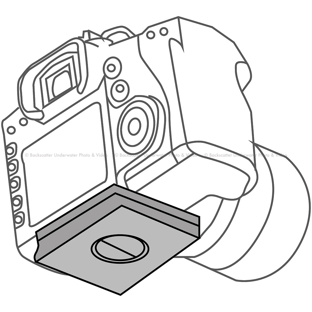 Nauticam NA-600D Housing Replacement Camera Tray for Canon