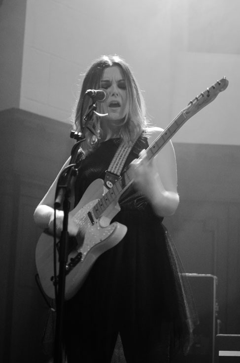 Honeyblood on stage at Saint Lukes Glasgow December 2016