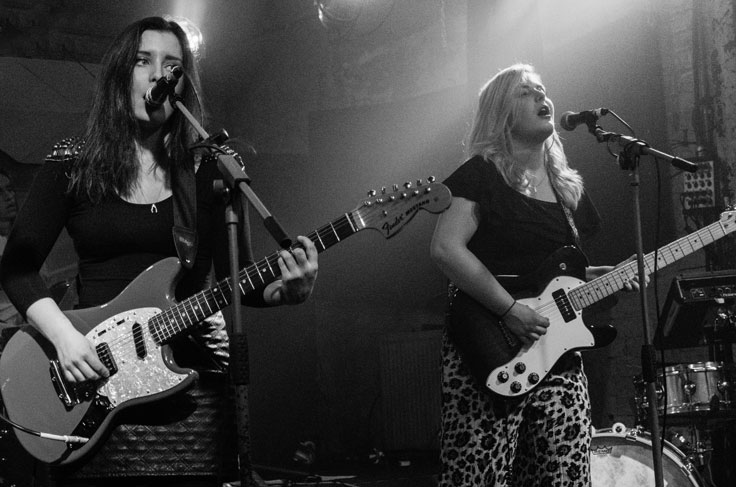 The Van T's on stage at Stereo Glasgow on 25 November 2016