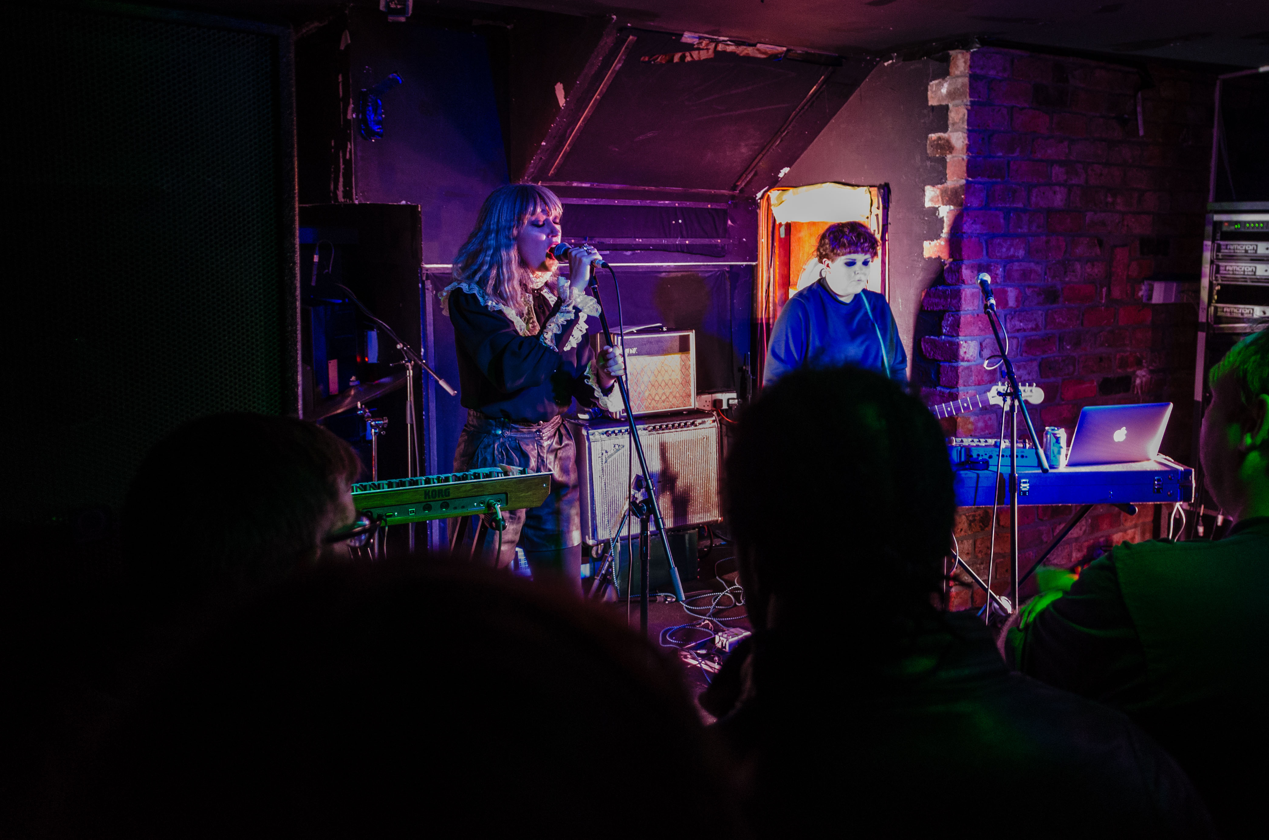 Marnie on stage at The Hug and Pint, Glasgow, for Celtic Connections on 27 January 2018