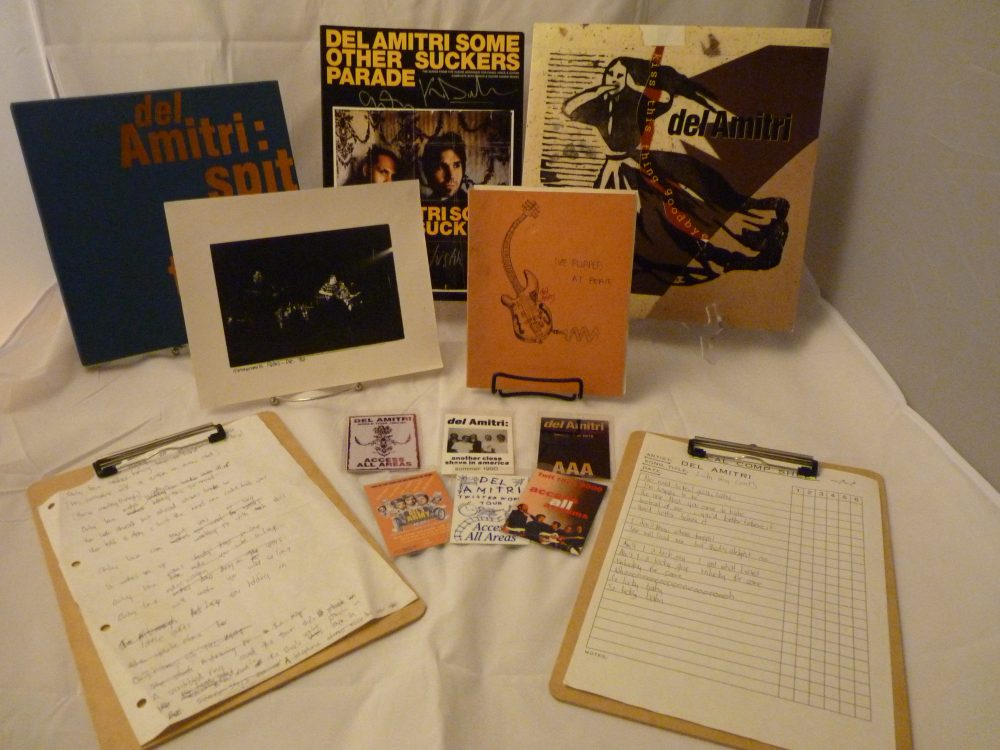 Photo of Justin Currie's items for Del Amitri auction