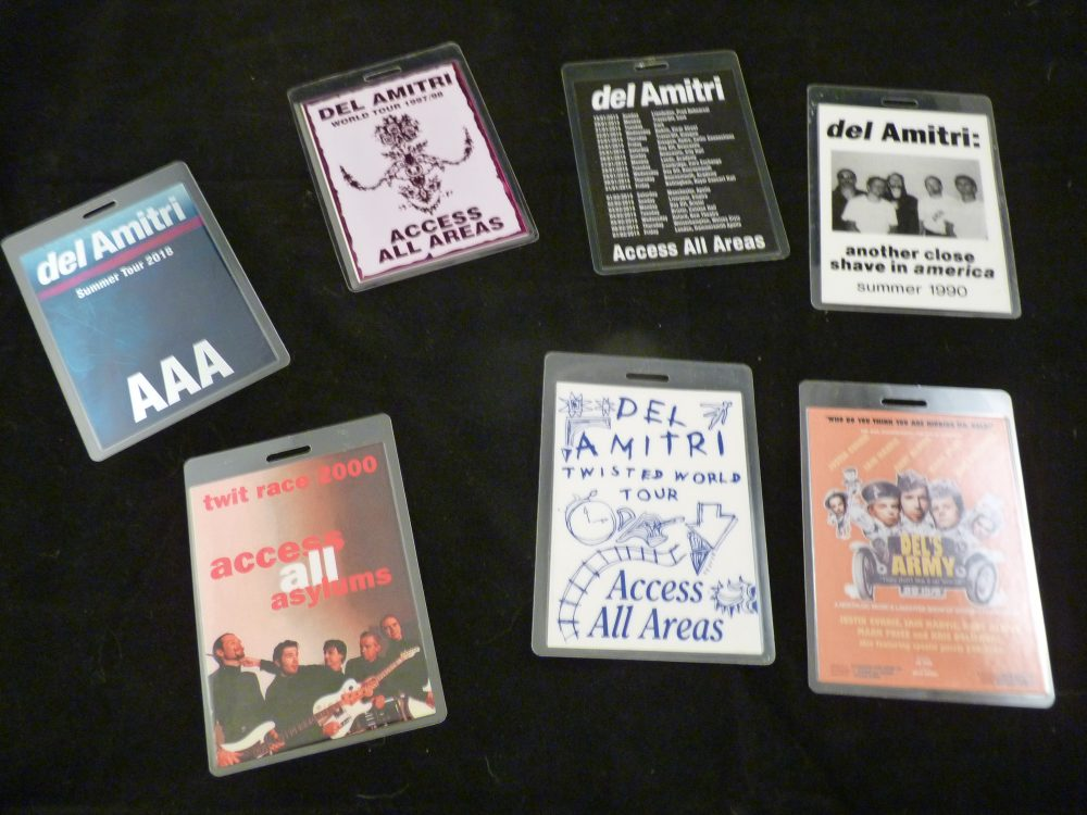 Photo of Justin Currie's laminates for Del Amitri auction